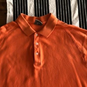 Men's nike orange polo shirt